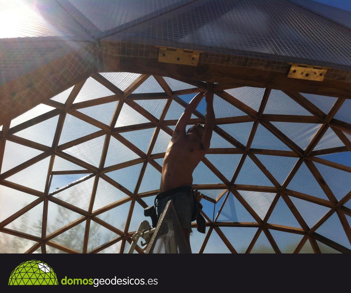 Construcci n de un domo paso a paso domos geod sicos for Construccion de un vivero paso a paso